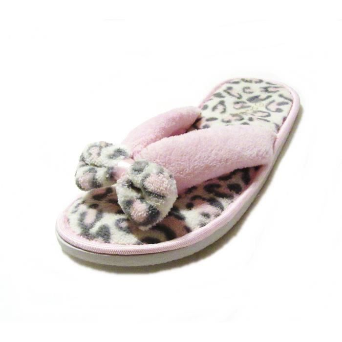Femmes Thong Flip Flop Fuzzy Maison Chaussons JPV9L Taille-S yzeiA5