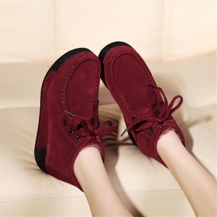 Femme Bottine Nouvelle Arrivee Chaussures chaussures à plateformes Femmes RéSistantes à L'Usure Femmes Bottines Grande Taille