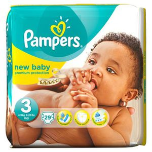 COUCHE PAMPERS Couches New Baby Taille 3 - De 4 à 9 kg -