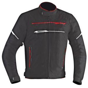 IXON Blouson Moto Zetec HP Noir et Rouge