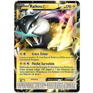 CARTES DE JEU Carte Pokémon RAIKOU EX HOLO REVERSE 38-108 N & B