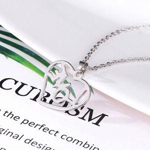 CHAINE DE COU SEULE Creux Love Letter lumineux collier pendentif perso