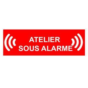 PANNEAU EXTÉRIEUR Panneau atelier sous alarme