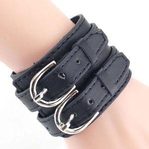 BRACELET - GOURMETTE Mode Rétro Unisexes Bracelets PU Cuir Large Manche 5a25b3fa81d