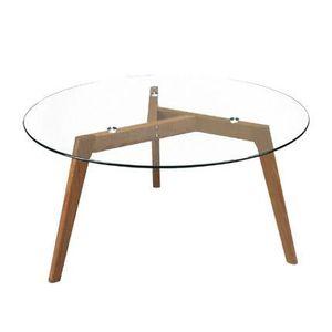 table ronde de 90 cm de diametre achat vente pas cher. Black Bedroom Furniture Sets. Home Design Ideas