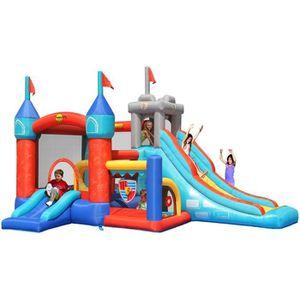 AIRE DE JEUX GONFLABLE HAPPY HOP Château - Aire de jeux gonflable 13 en 1