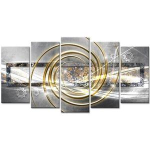 TABLEAU - TOILE Tableau Déco Abstraite Time - 150x80 cm