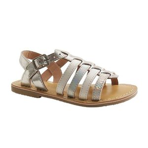 SANDALE - NU-PIEDS LITTLE MARY-BARBADE-SANDALE  SALOME-ARGENT
