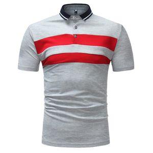 26ae572362b T-SHIRT Mode Hommes d affaires Slim Fit Shirt manches cour