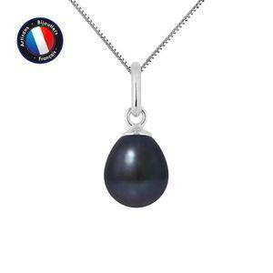 SAUTOIR ET COLLIER Pendentif - Perle de Culture d'Eau Douce 7-8 mm No