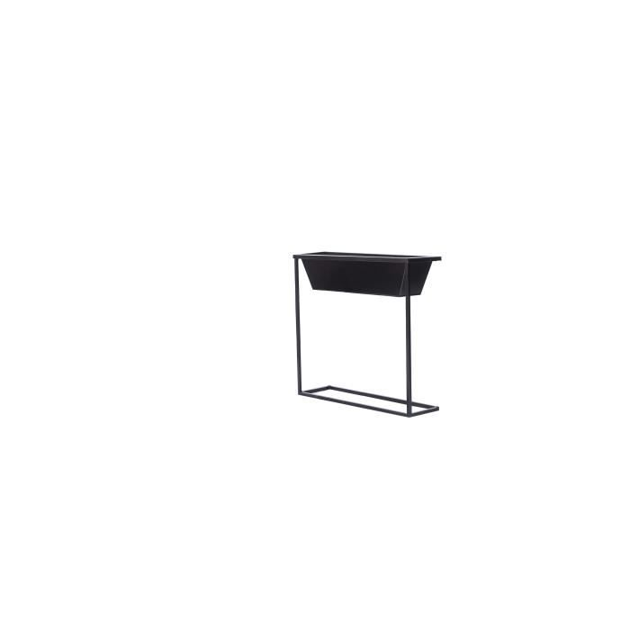 Cache-pot rectangulaire sur pieds en acier galvanisé - 61 x...