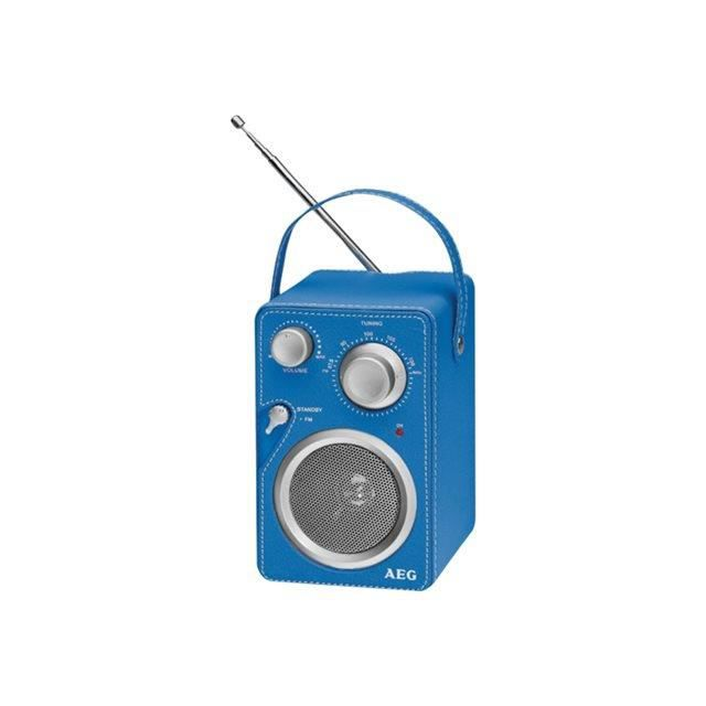 AEG MR 4144BLU Mono Enceinte Aux-In Antenne Télescopique - Bleu