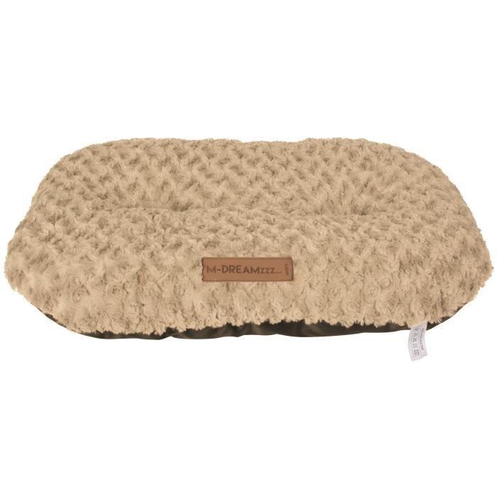 M-PETS Coussin oval Shetland XXL - 97x65cm - Beige - Pour chien