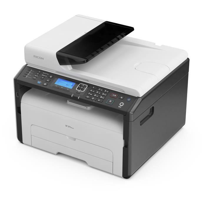 RICOH Imprimante Multifonction Fax Laser SP 277SFNWX - Réseau - WiFi - 23 PPM - Air Print - Cartouche Grande Capacité 2600 Pages