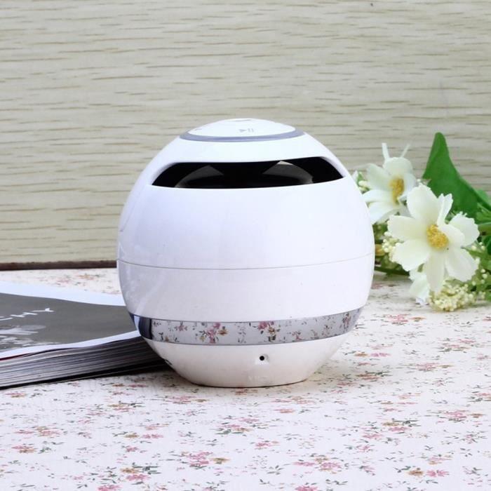 Magic Ball Haut-parleurs Sans Fil Bluetooth Avec Subwoofer Mini Haut-parleur Rond Hi-fi Portable Mains Libres Intérieur Extérieur