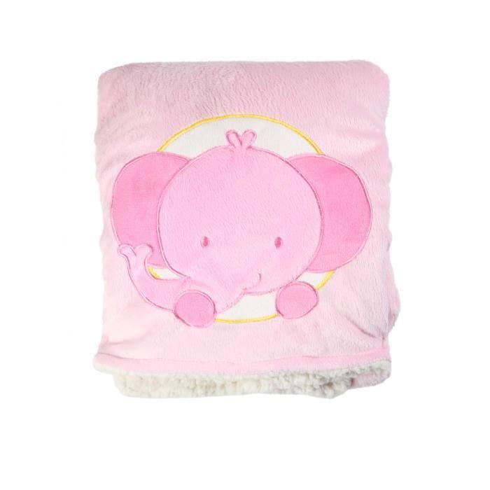 couverture polaire bébé fille Couverture polaire éléphant rose bébé fille Rose ROSE   Achat  couverture polaire bébé fille