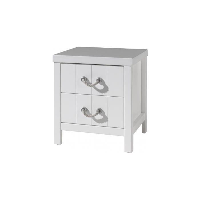 chevet enfant laqu blanc 2 tiroirs lewis achat vente chevet chevet enfant laqu blanc 2. Black Bedroom Furniture Sets. Home Design Ideas