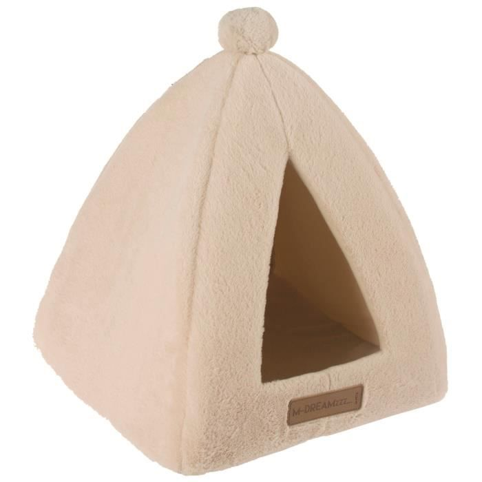 M Pets Tipi Yull - Beige Pour Chat