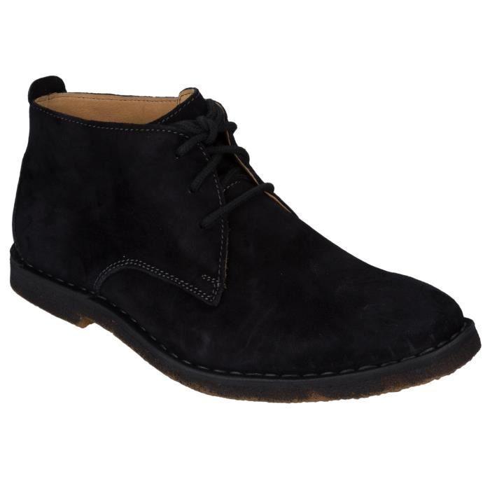 Bottines en daim hush puppies desert 2 pour homme en noir - Laver chaussure en daim ...