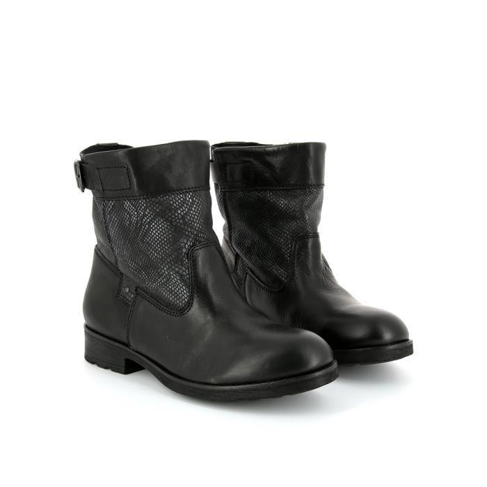 Bottines Femmes Automne Hiver talon épais en cuir bottes CHT-XZ019Gris40 asVZ0QXdDH