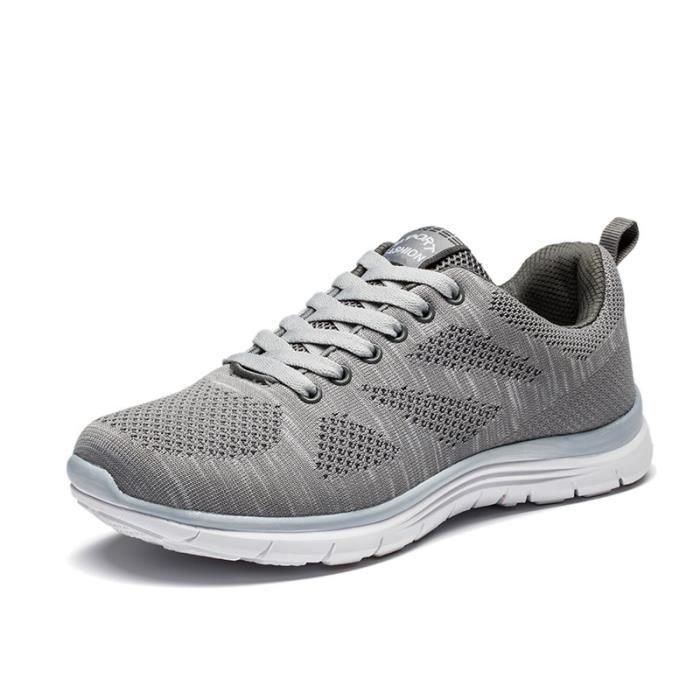 Chaussures de sport Nouvelle Mode Qualité Supérieure Marque De Luxe Durable Confortable Baskets Hommes Plus Taille gris 39-44