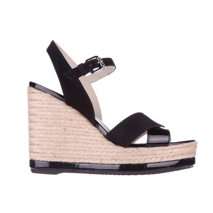 Zeppe sandales femme en cuir h286 yuta Hogan