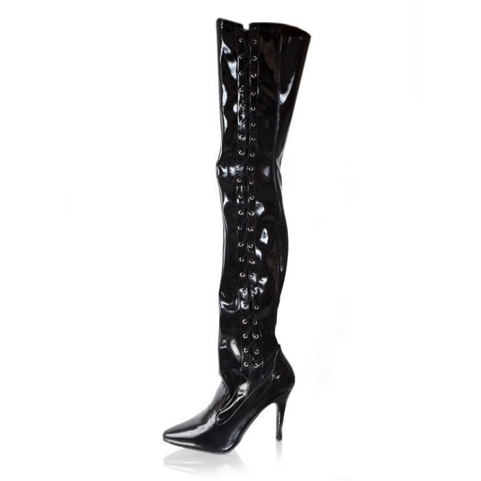 Ferocious 5 Inch Thigh High Stretch Boot with Side Lace