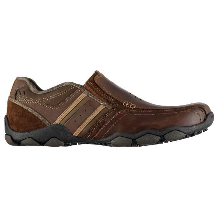 Marron Homme Décontractées Achat Chaussures Skechers xfFqSC
