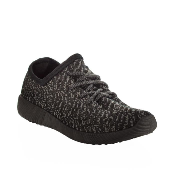 Mode Lumière faible poids Top Lace Up Knit Slip On Sneaker FWCGM Taille-37