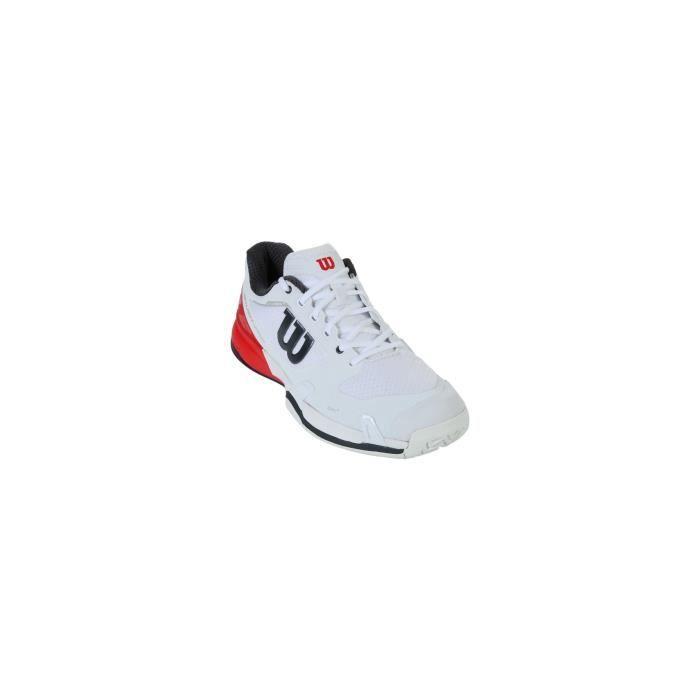 d73ab418d0 CHAUSSURES DE TENNIS Chaussures WILSON Homme Rush Pro 2.5 Blanc / Rouge .