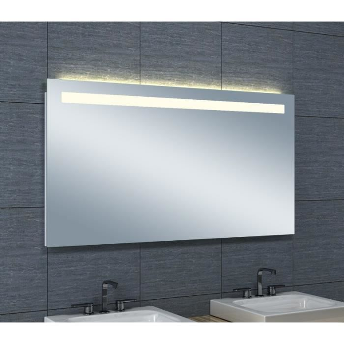 Miroir de salle de bains avec éclairage LED Horizontale 65 cm x