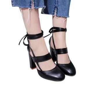 Bottines de mode pour femmes Flock Square Heels Bottes décontractées @SJF71229731BW uB4WYA0aRA