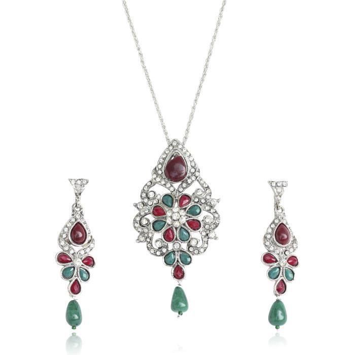 Collection été colorée de femmes de Set Trois pendentif pourQU536