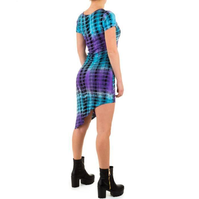 Femme robe asymétriques Stretch pourpre S