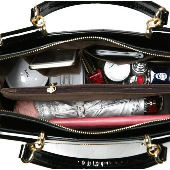 épaule sac et STOEX® style sac cuir de portable grand européen verni femme américain Rouge Mme Nouvelle sac en fwwq56S