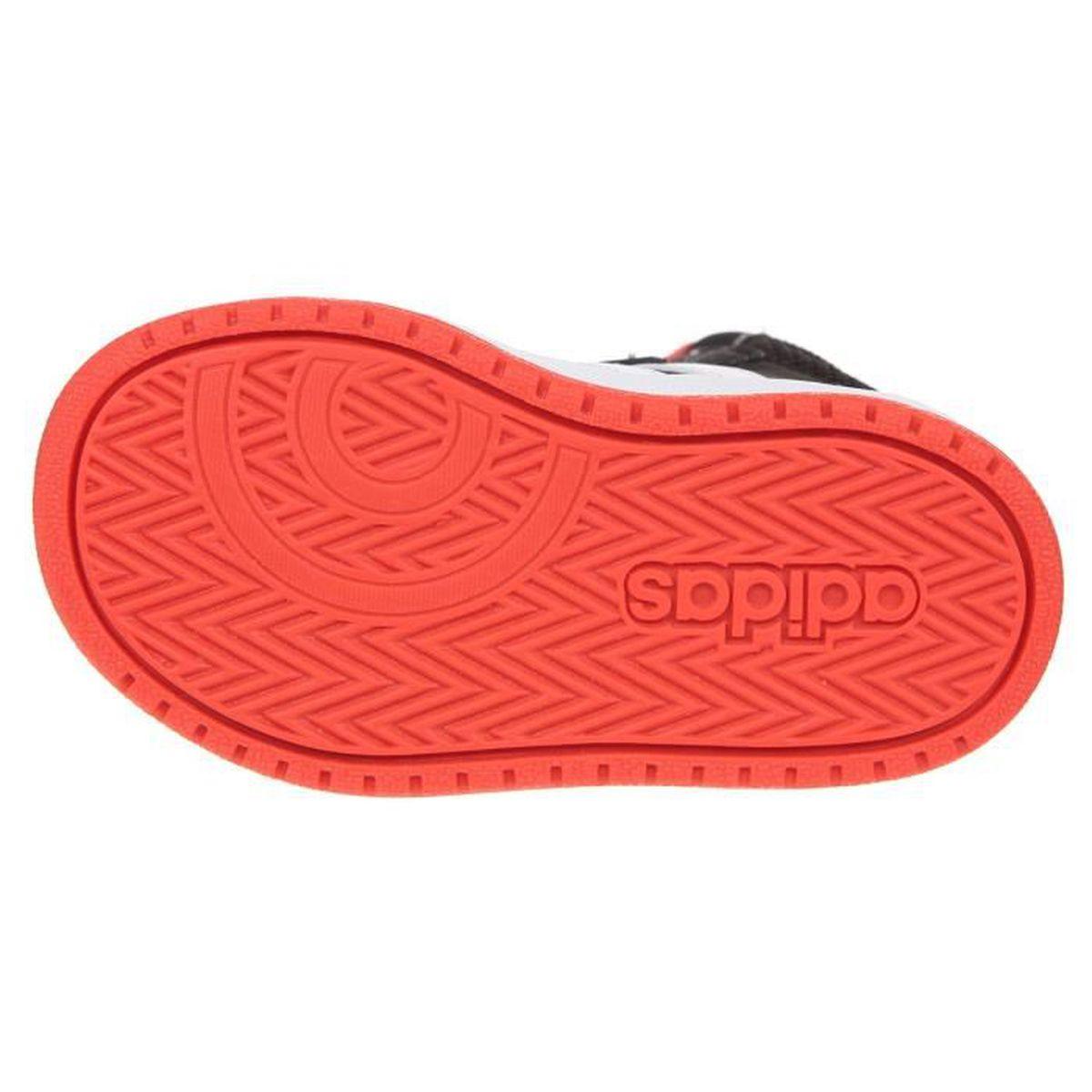 2f77109464ba1 ADIDAS Baskets Hoops Mid 2.0 I - Bébé garçon - Noir et rouge Noir et rouge  - Achat / Vente basket - Soldes d'été Cdiscount