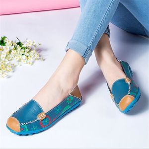 Chaussure Femme Cuir Printemps Été Comfortable Mode Chaussures BTYS-XZ067Bleu37 B1gErrS2Jp