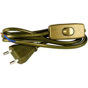 Cordon d'alimentation 1,5m 2x0,75mm? avec interrupteur pour luminaire or