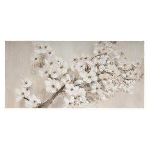 TABLEAU - TOILE Atmosphera - Toile peinte Cerisier en fleur  58 x