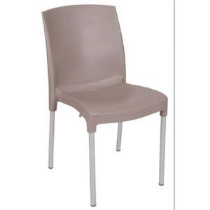 FAUTEUIL JARDIN  Lot 30 chaises de jardin anthracite en résine et p