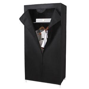 PENDERIE SOUPLE Armoires penderie tissu meuble de rangement noir 1