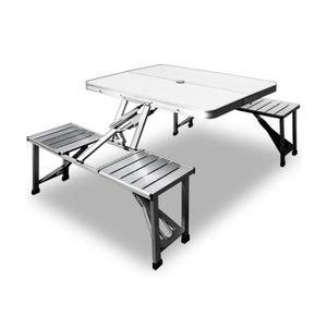 TABLE DE CAMPING Superbe Set de pique-nique - Aluminium avec foncti