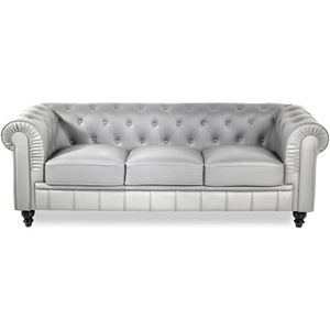 Canape chesterfield argent - Achat / Vente Canape ...
