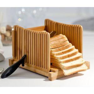 MACHINE À PAIN Kenley trancheuse à pain en bambou pour pain fait
