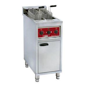 FRITEUSE ELECTRIQUE Friteuse électrique 2x 10 litres sur meuble