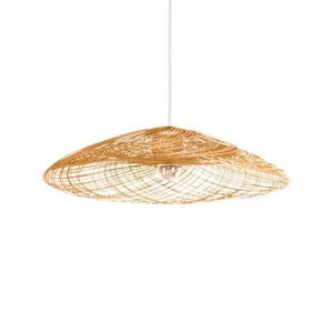 LUSTRE ET SUSPENSION SATELISE-Suspension Rotin Ø55cm naturel Forestier