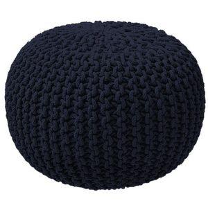 POUF - POIRE TODAY Pouf tricot Waby Sabi 100% coton ø45xH30 cm