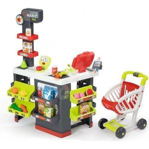 MARCHANDE SMOBY Super Market avec Chariot + 42 Accessoires