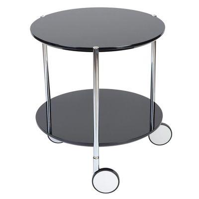 Table Basse Pop Noire Sur Roulettes 40x45cm Achat Vente Table