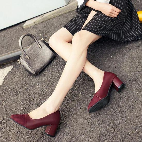 Pointu We554 À Mariage Élégant Talon Haut Femmes Vin Mode De Décontractées Du Chaussures kwulPiZOXT